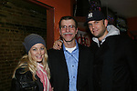 One Life To LIve's John Brotherton and Bree Williamson pose with Joe who is a cameraman at OLTL as they attend the screening of independent film The Day The Bread Turned Green on November 11, 2008 at Blondies, New York City, NY. (Photo by Sue Coflin/Max Photos)