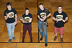 The 2014-2015 Tuscola Warrior Pep Band Seniors. From left are Tyler Adkisson, Glenda Wold, Eric Ponder, and Marcus McCollum.