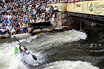 June 6, 2009:  USA's, Nicole Mansfield, in action during the Women's Freestyle Kayak Finals at the Teva Mountain Games, Vail, Colorado.