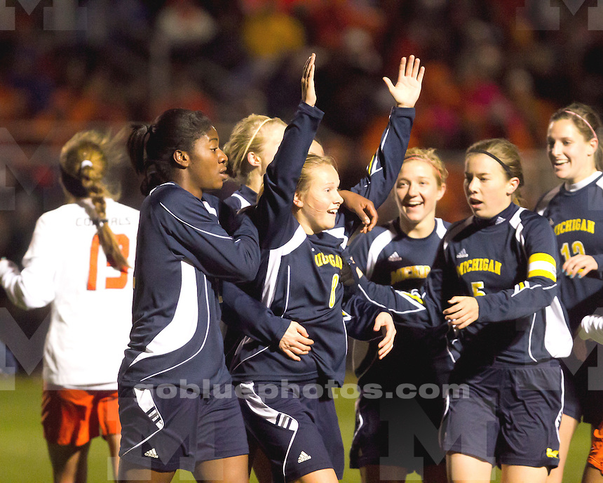 University of Michigan women's soccer team 2-1 loss to Oklahoma State University in the first round of the women's NCAA Tournament in Stillwater OK, on November 12, 2010.
