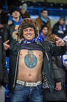 A FC Porto fan ahead of the UEFA Champions League group match between Chelsea and FC Porto at Stamford Bridge, London, England on 9 December 2015. Photo by David Horn / PRiME