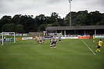 Visiting striker Craig Beattie first in a second-half free-kick at Borough Briggs, home to Elgin City, on the day they played SPFL2 newcomers Edinburgh City (in yellow). Elgin City were a former Highland League club who were elected to the Scottish League in 2000, whereas Edinburgh City became the first club to gain promotion to the League by winning the Lowland League title and subsequent play-off matches in 2015-16. This match, Edinburgh City's first away Scottish League match since 1949, ended in a 3-0 defeat, watched by a crowd of 610.