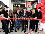 RTE Sports presenter Darragh Maloney cuts the ribbon to officially open Circle K at City North. Photo:Colin Bell/pressphotos.ie