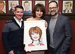 Chad Beguelin, Beth Leavel and Matthew Sklar during the Beth Leavel Portrait unveiling at Sardi's on 3/26/2019 in New York City.