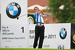 Joost Luiten (NED) tees off on the 1st tee off during Day 2 of the BMW Italian Open at Royal Park I Roveri, Turin, Italy, 10th June 2011 (Photo Eoin Clarke/Golffile 2011)