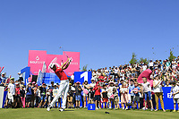 Soomin Lee of Team South Korea during day 2 of the GolfSixes played at The Centurion Club, St Albans, England. <br /> 06/05/2018.<br /> Picture: Golffile | Phil Inglis<br /> <br /> <br /> All photo usage must carry mandatory copyright credit (&copy; Golffile | Phil Inglis)
