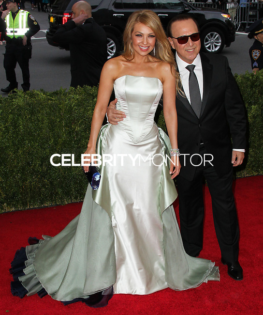 """NEW YORK CITY, NY, USA - MAY 05: Thalia, Tommy Mottola at the """"Charles James: Beyond Fashion"""" Costume Institute Gala held at the Metropolitan Museum of Art on May 5, 2014 in New York City, New York, United States. (Photo by Xavier Collin/Celebrity Monitor)"""