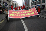 May Day march and rally at Trafalgar Square, May 1st, 2010 Turkish Halk Cephesi People's Front