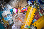 plastic waste and spray cans