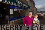 Closing the door to the last shop in Brosna village was Terry and Marie Fay, pictured here last Saturday in Brosna.