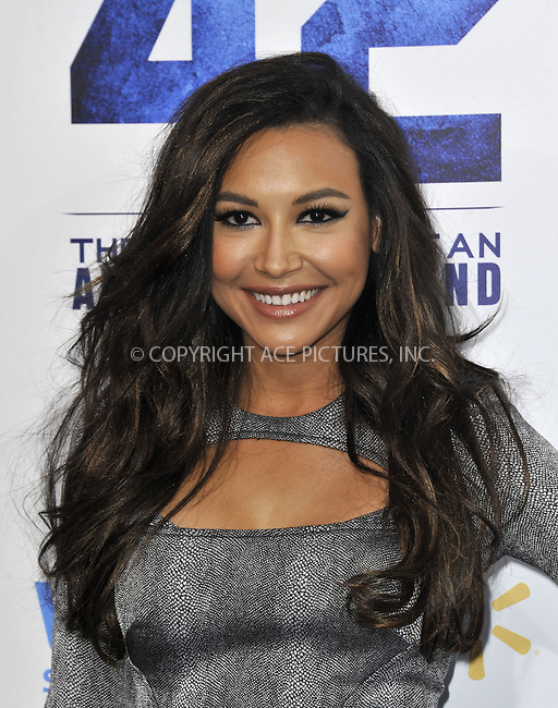 WWW.ACEPIXS.COM....April 9 2013, New York City....Naya Rivera arriving at the premiere of '42' at the Chinese Theatre on April 9, 2013 in Los Angeles, California. ......By Line: Peter West/ACE Pictures......ACE Pictures, Inc...tel: 646 769 0430..Email: info@acepixs.com..www.acepixs.com