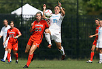20 September 2009: LSU's Natalie Leyoub (23) and North Carolina's Maria Lubrano (91). The University of North Carolina Tar Heels played the Auburn University Tigers to a 0-0 tie after overtime at Koskinen Stadium in Durham, North Carolina in an NCAA Division I Women's college soccer game.