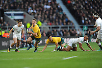 Dane Haylett-Petty of Australia finds space during the Old Mutual Wealth Series match between England and Australia at Twickenham Stadium on Saturday 3rd December 2016 (Photo by Rob Munro)