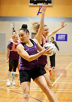 29.08.2017 Silver Ferns Whitney Souness in action during the Silver Ferns training in Auckland. Mandatory Photo Credit ©Michael Bradley.