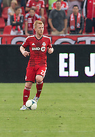 July 20, 2013: Toronto FC defender Richard Eckersley #27 in action during a game between Toronto FC and the Columbus Crew at BMO Field in Toronto, Ontario Canada.<br /> Toronto FC won 2-1.