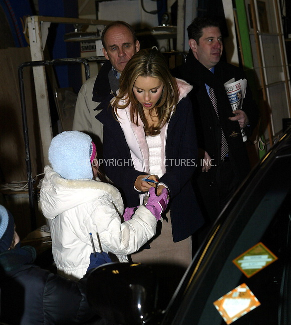 WWW.ACEPIXS.COM . . . . .  ....NEW YORK, FEBRUARY 24, 2005....Amanda Bynes takes a moment to sign autographs while exiting Live with Regis and Kelly.....Please byline: Ian Wingfield - ACE PICTURES..... *** ***..Ace Pictures, Inc:  ..Philip Vaughan (646) 769-0430..e-mail: info@acepixs.com..web: http://www.acepixs.com