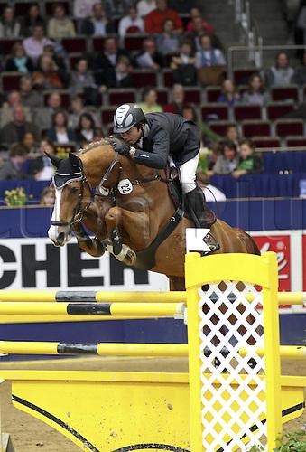 19 03 2010  Dortmund Westfalenhalle 19 03 2010 Jump Prize from North Rhine Westphalia Takashi Haase JPN and Atomic 12 Photo Equestrian sports riding showjumping Dortmund