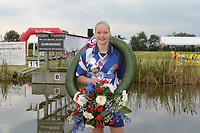 FIERLEPPEN/POLSTOKVERSPRINGEN: ZEGVELD, 31-08-2019: Nederlands Kampioenschap Fierljeppen/Polstokverspringen, Femke Rispens, ©foto Martin de Jong