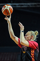 20191114 - CHARLEROI , BELGIUM : Belgian Cat Ann Wauters (12) pictured before the female basketball match between the Belgian national team Belgian Cats and Ukraine , a first qualification game for the Belgian Cats in Group G towards the Women's European Eurobasket Basketball Championships 2021 in Lyon, Paris and Valencia, on Thursday 14 th November in the Dome in Charleroi , Belgium . PHOTO SPORTPIX | STIJN AUDOOREN