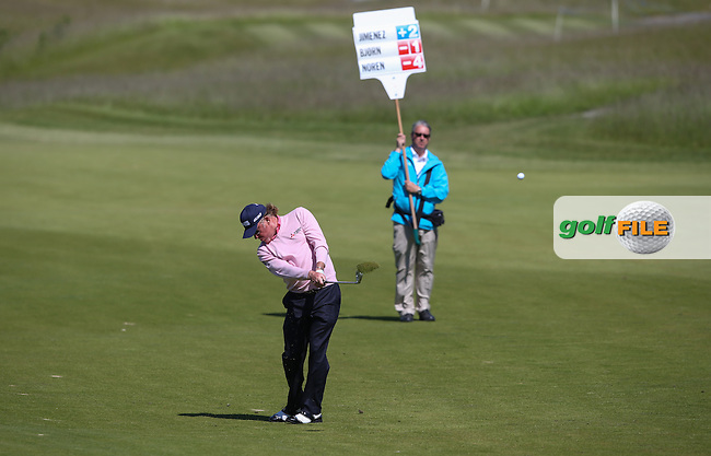 A frustrated Miguel Angel Jimenez (ESP) missed the cut by one shot during Round Two of the 2015 Nordea Masters at the PGA Sweden National, Bara, Malmo, Sweden. 05/06/2015. Picture David Lloyd   www.golffile.ie