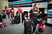 STANFORD, CA - MARCH 28, 2013 - Stanford Women's Basketball departures from Maples Pavilion.