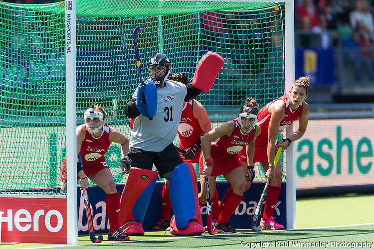 England Women vs USA Women in the Rabobank Hockey World Cup 2014