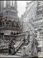BNPS.co.uk (01202 558833)<br /> Pic: 25BlytheRoad/BNPS<br /> <br /> Temple in Ayutthaya the ancient capital of Siam.<br /> <br /> Stunning 125 year-old pictures of Thailand which showcase the tropical paradise long before it became a tourist hot-spot have emerged.<br /> <br /> The collection of photographs from the early 1890s include images of the King's birthday celebrations in 1892, the King's palace and the Bangkok architecture.<br /> <br /> Also included in the collection are photographs of Hong Kong under British crown rule in 1895 including of British seamen, the Hong Kong cricket team and the native army.<br /> <br /> The photo album will go under the hammer on January 25 and is tipped to sell for &pound;1,500.<br /> <br /> The owner of the album is believed to have been a member of the Royal Engineers or connected with them.<br /> <br /> The fascinating photos provide a snapshot of Thailand under the rule of King Chulalongkorn.<br /> <br /> He was the first Siamese king to have a full western education, having been taught by British governess Anna Leonowens whose memoirs were transported to the silver screen in the famous film The King and I.