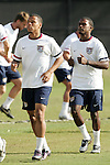 12 March 2008: Charlie Davies and Maurice Edu. The United States U-23 Men's National Team practiced at the Tampa Bay Buccaneers training facility in Tampa, FL on an off day in the 2008 CONCACAF Men's Olympic Qualifying Tournament.