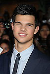 "WESTWOOD, CA. - November 16: Taylor Lautner  arrives at ""The Twilight Saga: New Moon"" premiere held at the Mann Village Theatre on November 16, 2009 in Westwood, California."