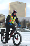 Conoco Phillips engineer Steve McKeever rides home for lunch Tuesday, January 27, 2015 in Anchorage, Alaska