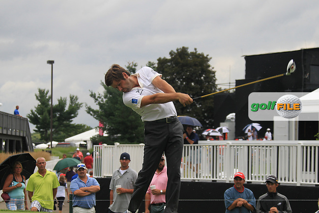 Robert Rock (ENG) tees off the 17th tee during Sunday's Final Round of the 2012 World Golf Championship Bridgestone Invitational at The Firestone Country Club, Akron, Ohio, USA 5th August 2012 (Photo Eoin Clarke/www.golffile.ie)