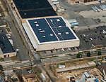 Aerial view of Solar panels