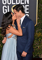 LOS ANGELES, CA. January 06, 2019: Gina Rodriguez & Joe Locicero at the 2019 Golden Globe Awards at the Beverly Hilton Hotel.<br /> Picture: Paul Smith/Featureflash
