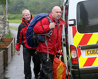 Pictured: Mountain Rescue Team at Tafarn Y Garreg, Powys, Wales UK. Wednesday 29 June 2016<br />