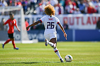 CHICAGO, IL - OCTOBER 06: Casey Short #26 of the United States crosses a ball during their game versus Korea Republic at Soldier Field, on October 06, 2019 in Chicago, IL.