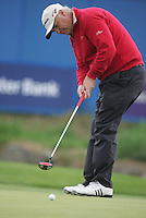 Smurfit Kappa European Open..Wales Stephen Dodd sinking his putt on the 18 to win the European Open in the K Club..Photo: Fran Caffrey/ Newsfile.