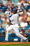 19 March 2006: Kenny Lofton, outfielder for the Los Angeles Dodgers, at bat during a Spring Training game against the Washington Nationals at Holeman Stadium, in Vero Beach, Florida. The Dodgers defeated the Nationals 9-1 in Grapefruit League play...Mandatory Photo Credit: Ed Wolfstein Photo..