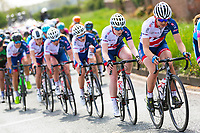 Picture by Alex Whitehead/SWpix.com - 03/05/2018 - Cycling - 2018 Asda Women's Tour de Yorkshire - Stage 1: Beverley to Doncaster - Emily Wadsworth leads her Great Britain team-mates.