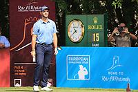 Adri Arnaus (ESP) in action during round 3, Ras Al Khaimah Challenge Tour Grand Final played at Al Hamra Golf Club, Ras Al Khaimah, UAE. 02/11/2018<br /> Picture: Golffile | Phil Inglis<br /> <br /> All photo usage must carry mandatory copyright credit (&copy; Golffile | Phil Inglis)