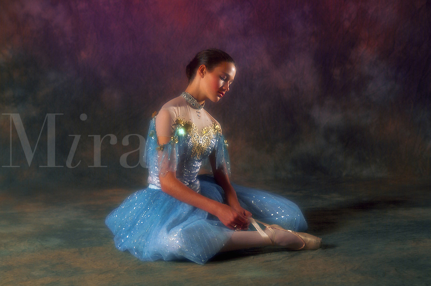 Young ballerina in costume