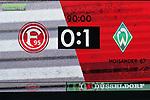 18.01.2020, Merkur Spielarena, Duesseldorf , GER, 1. FBL,  Fortuna Duesseldorf vs. SV Werder Bremen,<br />  <br /> DFL regulations prohibit any use of photographs as image sequences and/or quasi-video<br /> <br /> im Bild / picture shows: <br /> Endstand 0:1<br /> <br /> Foto © nordphoto / Meuter