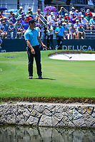 Paul Casey (GBR) watches his putt on 9 during round 2 of the Dean &amp; Deluca Invitational, at The Colonial, Ft. Worth, Texas, USA. 5/26/2017.<br /> Picture: Golffile | Ken Murray<br /> <br /> <br /> All photo usage must carry mandatory copyright credit (&copy; Golffile | Ken Murray)