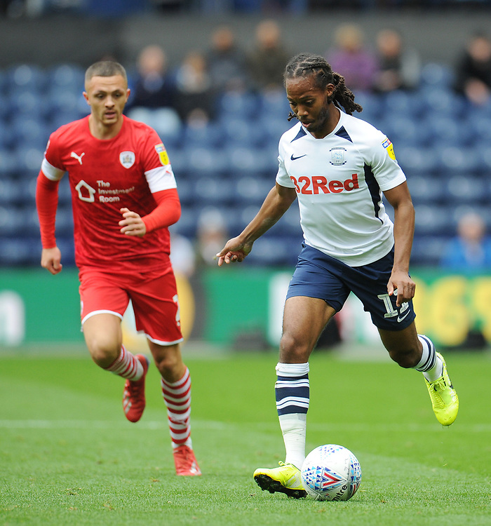 Preston North End's Daniel Johnson<br /> <br /> Photographer Kevin Barnes/CameraSport<br /> <br /> The EFL Sky Bet Championship - Preston North End v Barnsley - Saturday 5th October 2019 - Deepdale Stadium - Preston<br /> <br /> World Copyright © 2019 CameraSport. All rights reserved. 43 Linden Ave. Countesthorpe. Leicester. England. LE8 5PG - Tel: +44 (0) 116 277 4147 - admin@camerasport.com - www.camerasport.com