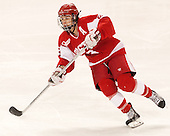 Kayla Tutino (BU - 8) -  The Boston College Eagles defeated the visiting Boston University Terriers 5-0 on BC's senior night on Thursday, February 19, 2015, at Kelley Rink in Conte Forum in Chestnut Hill, Massachusetts.