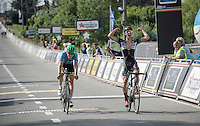 Dries De Bondt (BEL/Verandas Willems) beats Jens Keukeleire (riding for a Belgium National team on this occasion) to the line<br /> <br /> 69th Halle-Ingooigem 2016 (200km)