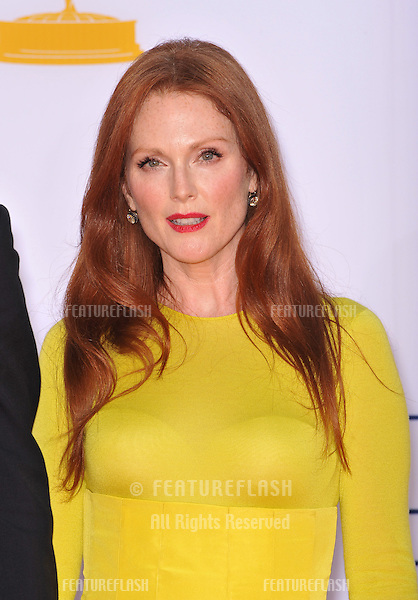 Julianne Moore at the 64th Primetime Emmy Awards at the Nokia Theatre LA Live..September 23, 2012  Los Angeles, CA.Picture: Paul Smith / Featureflash