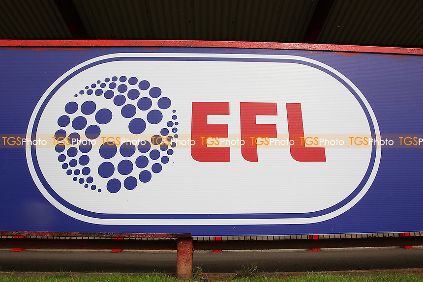 General view of the EFL sign during Stevenage vs Hartlepool United, Sky Bet EFL League 2 Football at the Lamex Stadium on 3rd September 2016