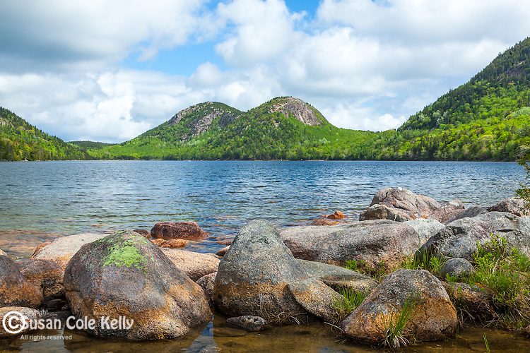 The Bubbles over Jordan Pond in Acadia National Park, Maine, USA