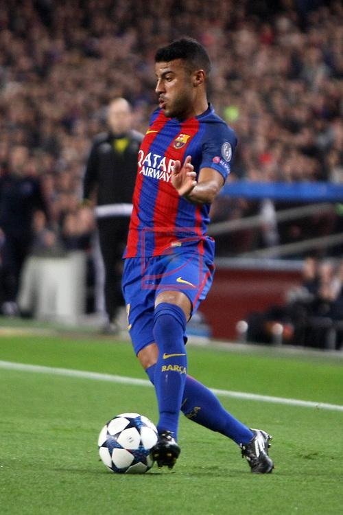 UEFA Champions League 2016/2017.<br /> Round of 16 2nd leg<br /> FC Barcelona vs Paris Saint-Germain: 6-1.<br /> Rafinha.