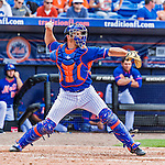8 March 2015: New York Mets catcher Anthony Recker in Spring Training action against the Boston Red Sox at Tradition Field in Port St. Lucie, Florida. The Mets fell to the Red Sox 6-3 in Grapefruit League play. Mandatory Credit: Ed Wolfstein Photo *** RAW (NEF) Image File Available ***